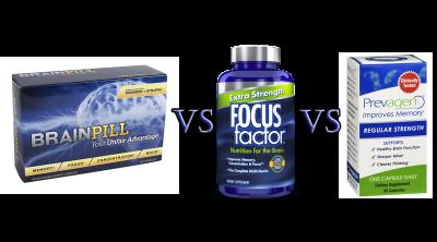 Brain Pill vs Focus Factor vs Prevagen Comparison Guide by John Argue