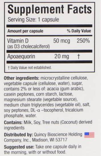 Prevagen Ingredients