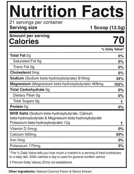 Dr Colbert Instant Ketones Ingredients